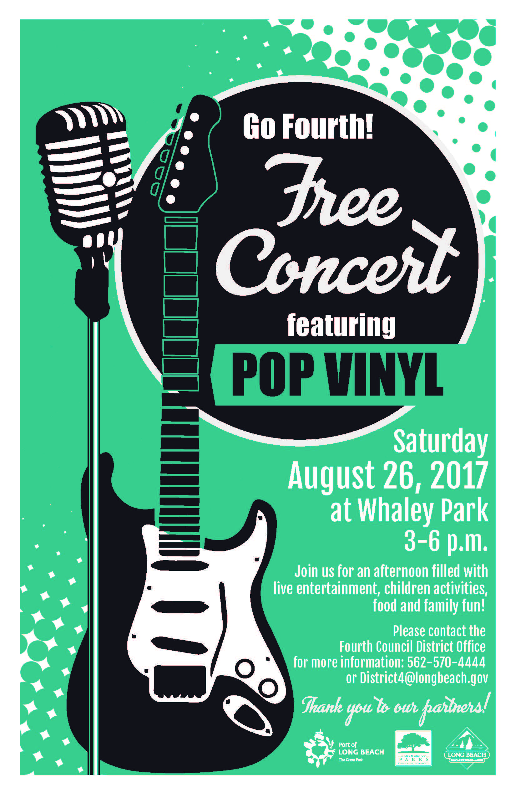 Pop Vinyl at Whaley Park flier