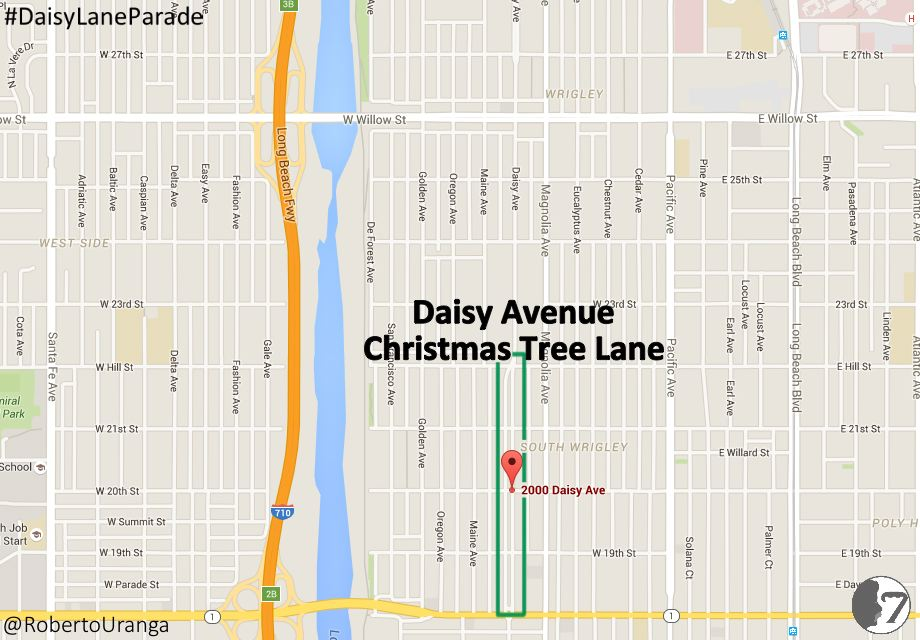 Daisy Avenue Christmas Tree Lane Location Map v.1
