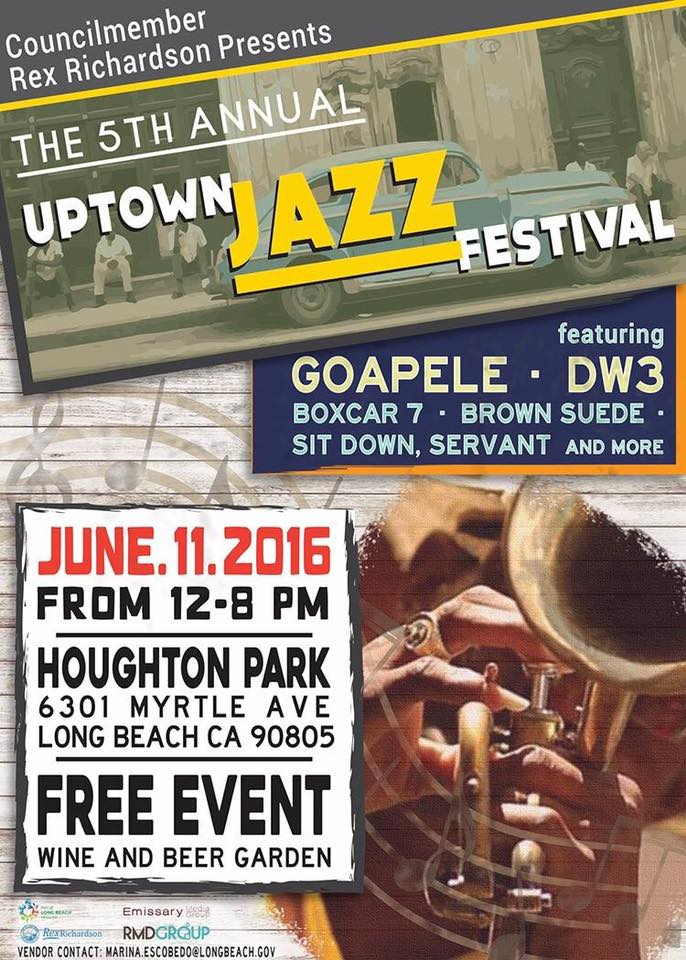 5th Annual Uptown Jazz Festival:  Final Lineup