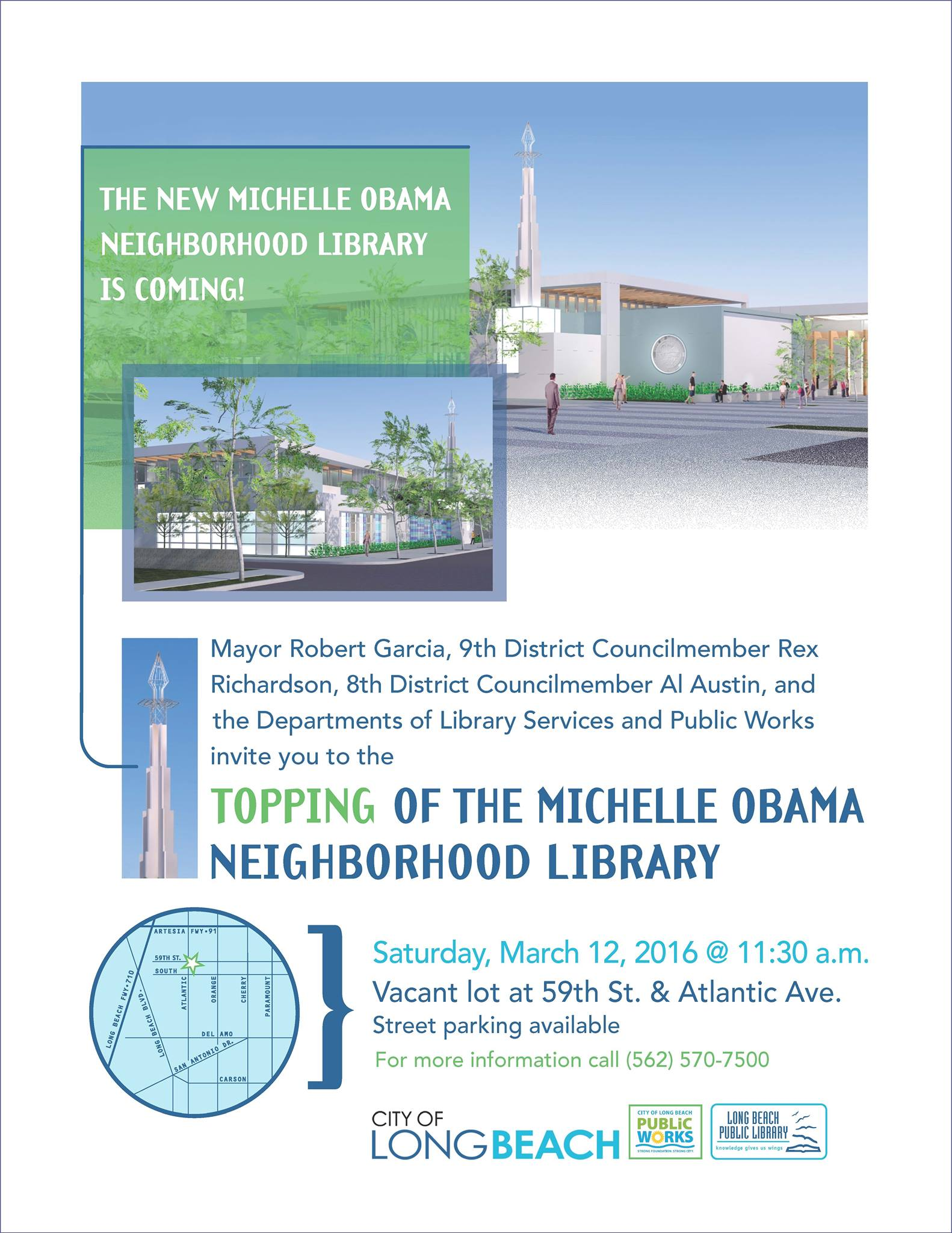 Top off the Michelle Obama Neighborhood Library