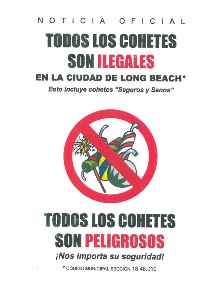 Fireworks Illegal - Spanish - Flyer