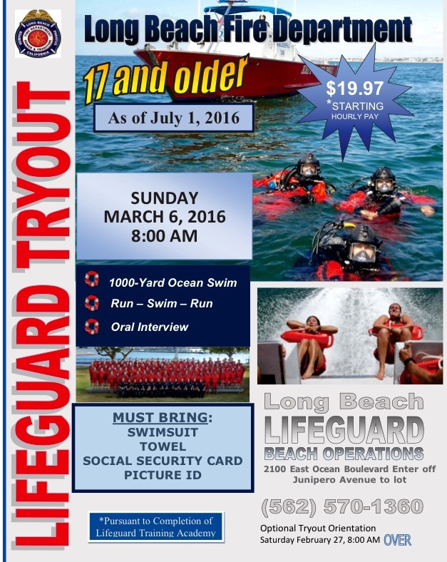 Seasonal Lifeguard Tryouts 2016