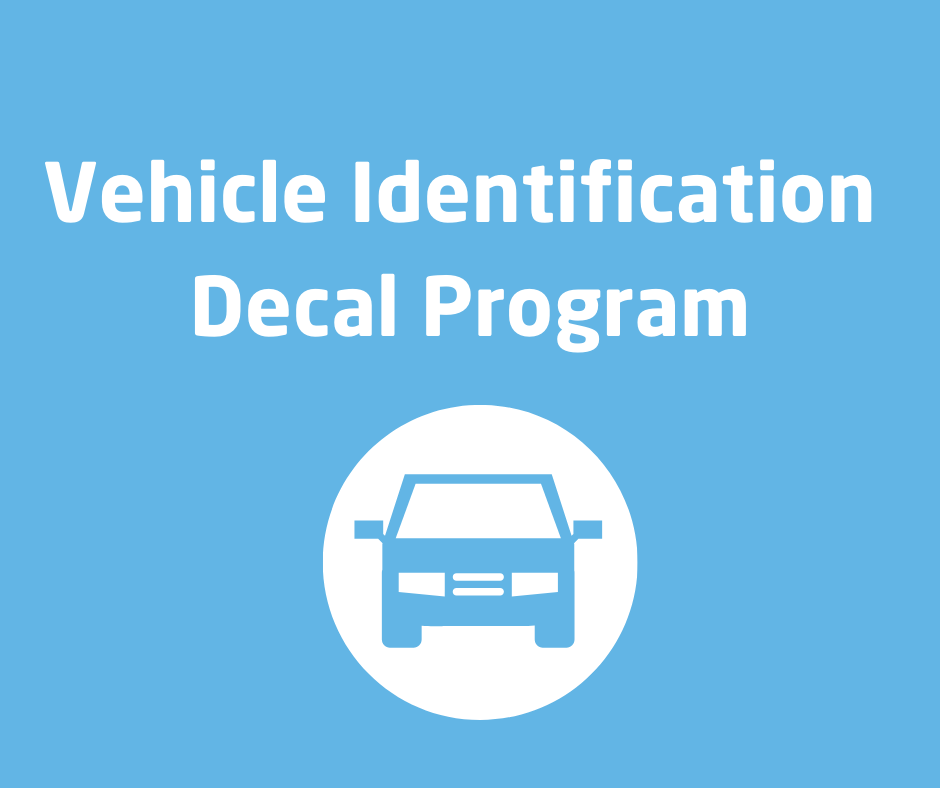 VEHICLE IDENTIFICATION DECAL PROGRAM