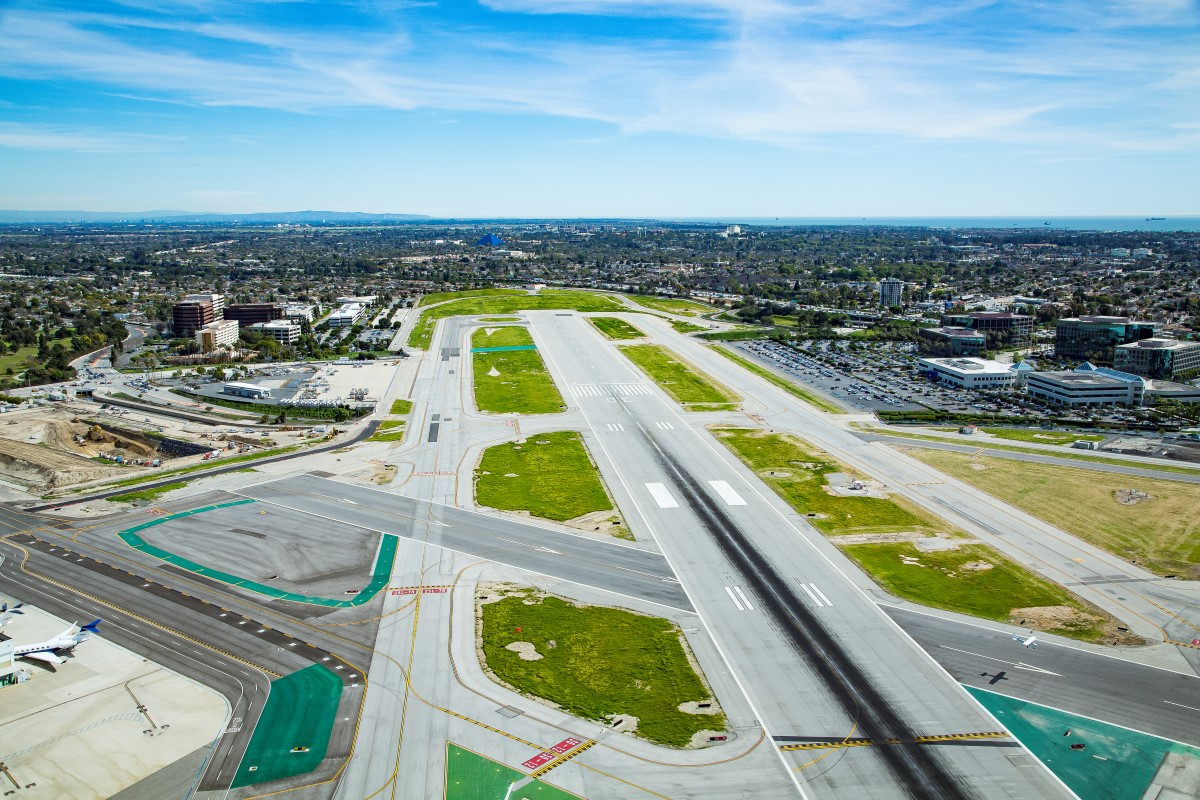 Long Beach Airport Aerial