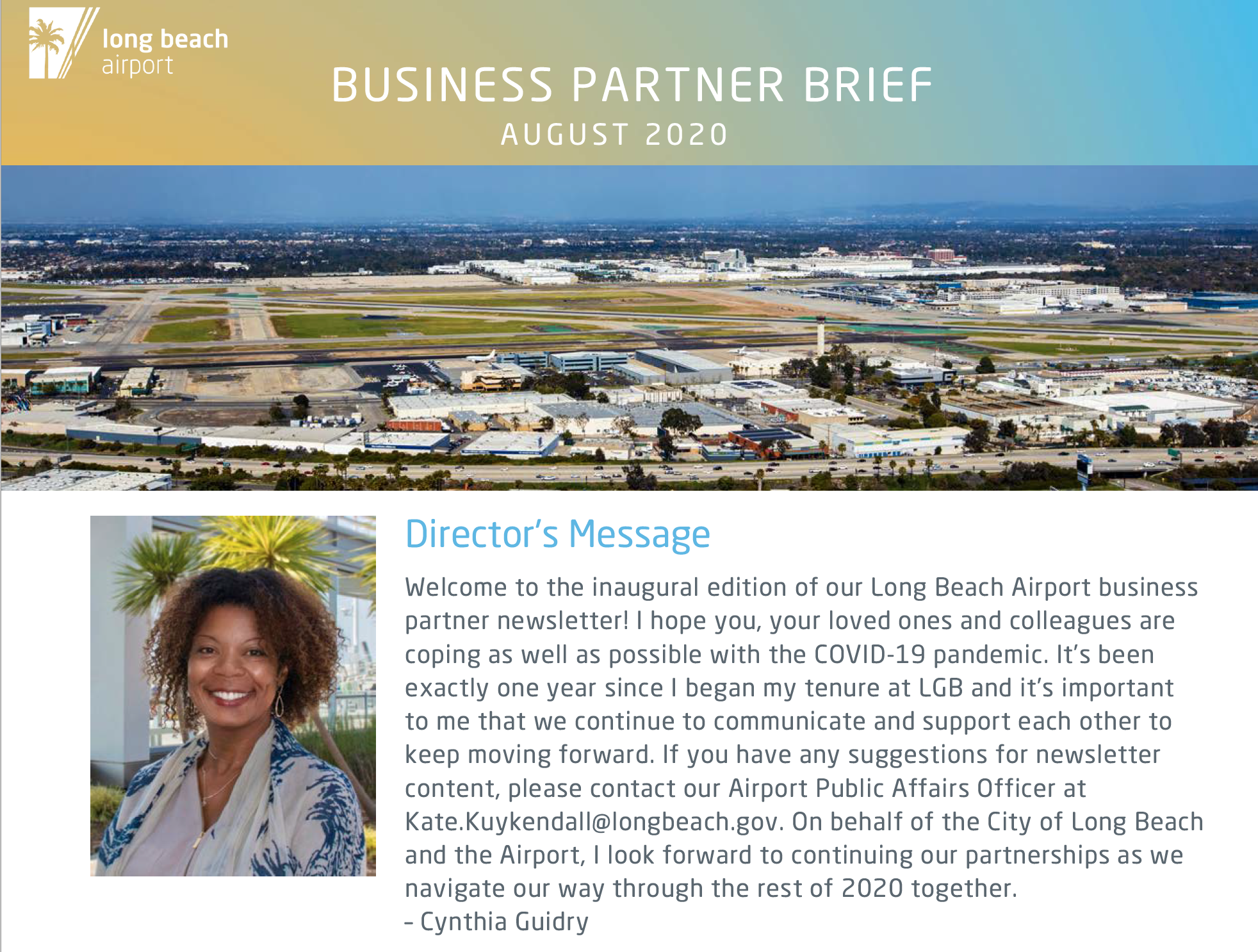 August 2020 Business Brief Cover