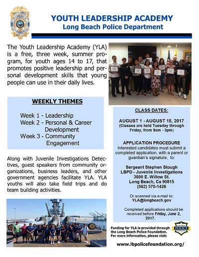 youth leadership flyer